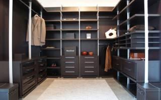Виды гардеробных систем