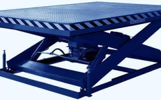 Выбор подъемного стола, особенности подъемных столов с гидравлическим механизмом
