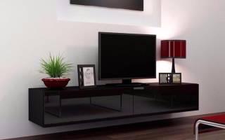 Подвесная тумба под телевизор: плюсы, виды, правила выбора