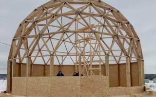 Как сделать купол: многогранная крыша