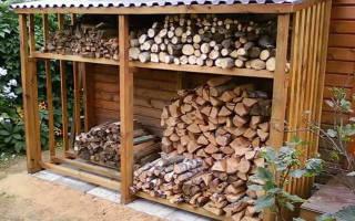 Как сделать навес для дров?