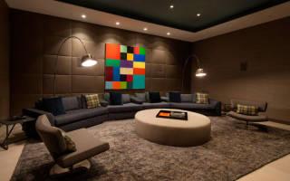 Коричневый цвет в интерьере гостиной