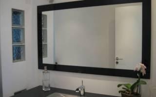 Как закрепить большое зеркало на стене