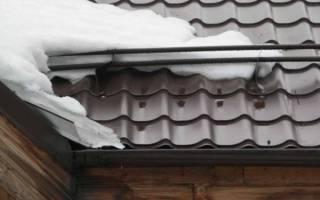 Сход снега с крыш: снегозадержатель размеры