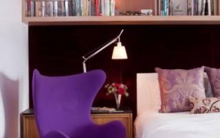 Дизайн полок в спальне