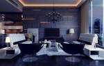 Дизайн комнаты с синим цветом