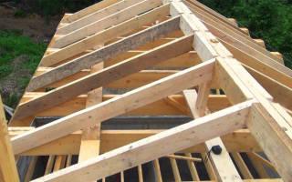 Как делать крышу дома двухскатную, видео