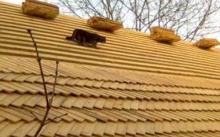 Крыша из дранки, пластины для кровли