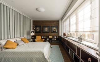 Дизайн окон в спальне фото