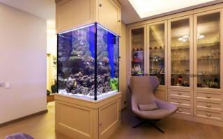 Дизайн комнаты с аквариумом