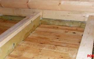 Монтаж чернового пола в деревянном доме