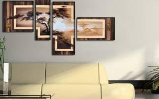Как правильно вешать модульные картины на стену