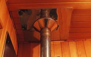 Как поставить трубу в баню на крыше