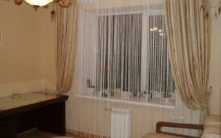 Нитяные шторы в интерьере фото гостиная