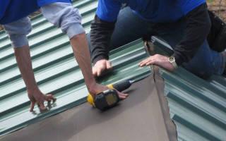 Крепление профлиста на крыше, монтаж металлической кровли