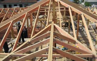 Стропильная система двухскатной крыши под металлочерепицу