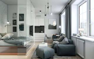 Дизайн гостиной со спальной