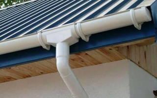 Как крепить водостоки к крыше – крепления для водосточных желобов