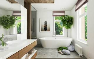 Интерьеры ванных комнат в частном доме фото