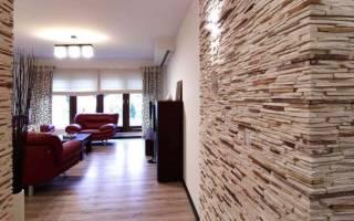 Дизайн комнаты с камнем