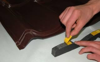 Коньковый уплотнитель для металлочерепицы, лента под конек крыши