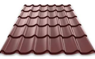 Размер листа металлочерепицы для крыши