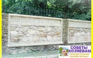 Как класть природный камень на стену