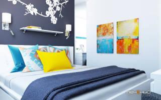 Дизайн модной спальни фото