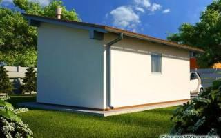 Как построить односкатную крышу?