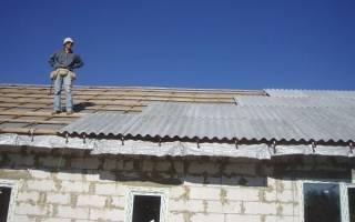Как крепить шифер на крышу: противоветровая скоба