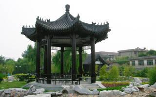 Крыша в китайском стиле, беседка пагода