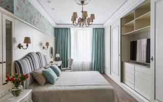 Дизайн белой спальни в классическом стиле
