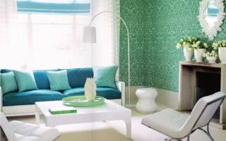 Дизайн интерьера зеленый цвет