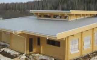 Плоская кровля в частном доме: ровная крыша