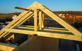 Как правильно крепить стропила двухскатной крыши