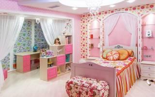 Дизайн интерьера комнаты для девочки