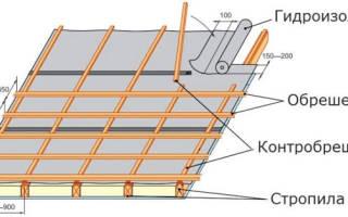 Какой шаг обрешетки под металлочерепицу?