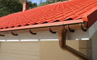 Как установить водостоки: желоб на крыше