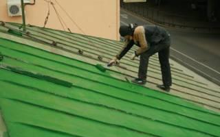 Краска для крыши из металла: покраска металлической кровли