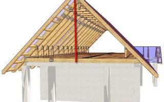 Как рассчитать высоту конька двухскатной крыши?