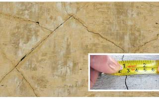 Как заделать трещину в штукатурке на стене