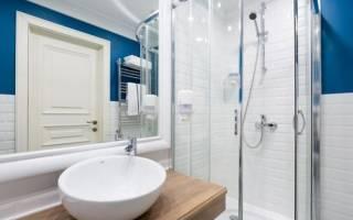 Интерьеры ванных комнат с душевой кабиной