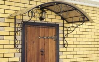 Фото козырьков над входной дверью, козирки над дверима