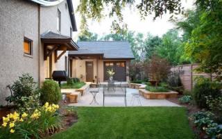 Дизайн маленького дворика