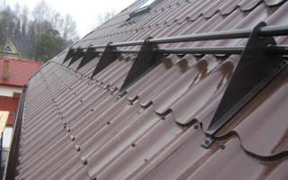 Правила установки снегозадержателей для металлочерепицы