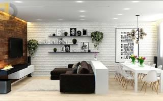 Дизайн интерьера квартиры лофт