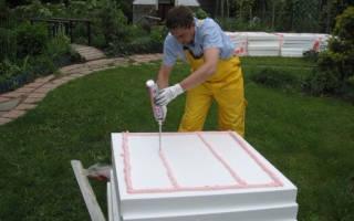 На что клеить пенополистирол к бетону, приклеивание пенопласта