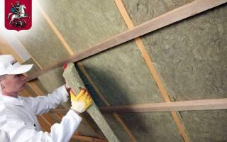 Стоимость работ по утеплению крыши изнутри
