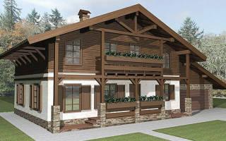 Дом с крышей до земли, стропильная система шале