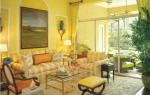 Сине желтый интерьер гостиной